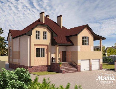 Дизайн проект фасада дома 215 м2 в п. Санаторный